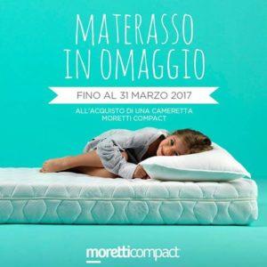 Materasso in Omaggio con Moretti Compact